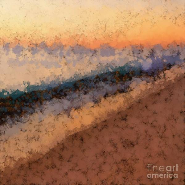 Impressionist Photograph - Beach Sunset Abstract by Edward Fielding