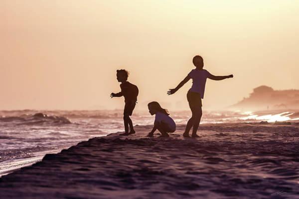 Beach Sunset Dance Art Print