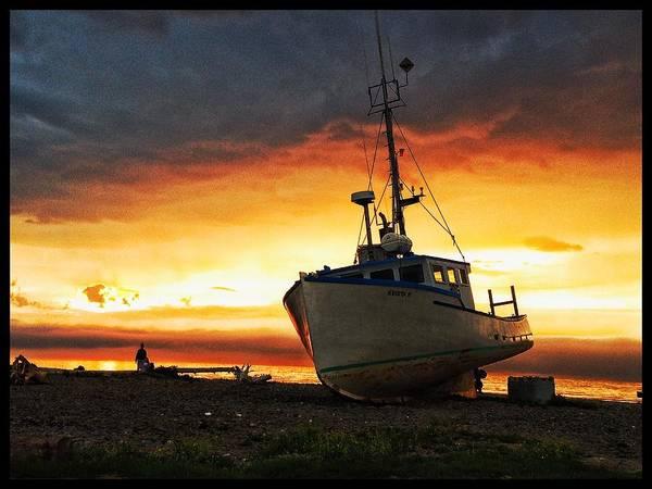 Photograph - Beach Sunset by David Matthews