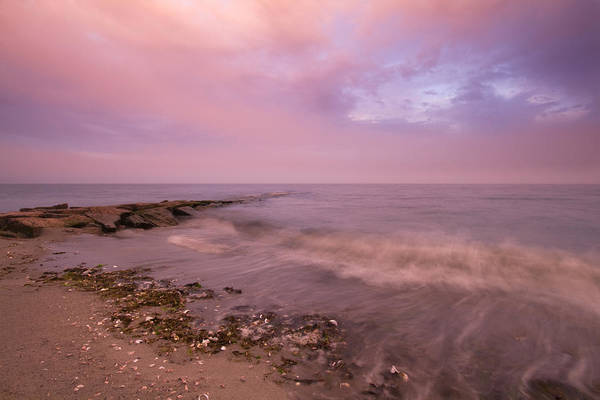 Fairfield Ct Photograph - Beach Sunset In Connecticut Landscape by Stephanie McDowell