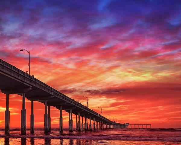 Photograph - Beach Sunset Ocean Wall Art San Diego Artwork by Gigi Ebert