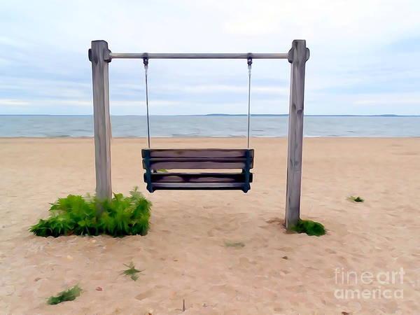 Wall Art - Photograph - Beach Swing by Ed Weidman