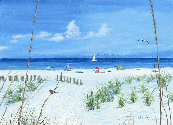 Painting - Beach Time by Mike Ivey