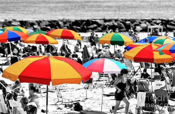 Photograph - Beach Umbrella Colors At Ocean City by John Rizzuto