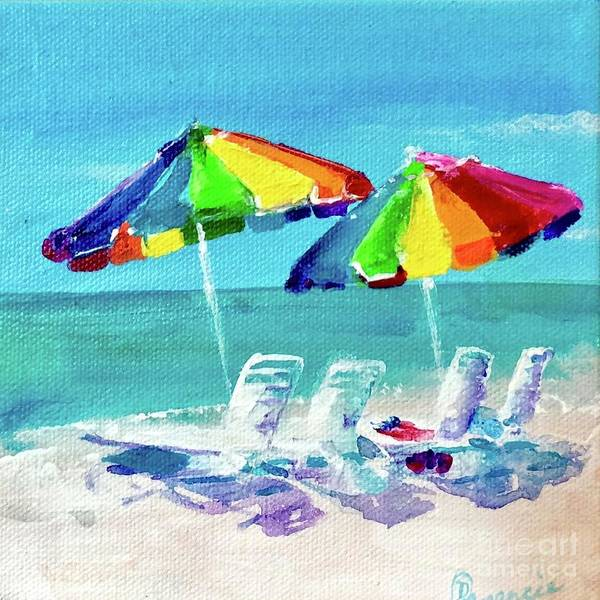 Painting - Beach Unbrellas by Denise Morencie
