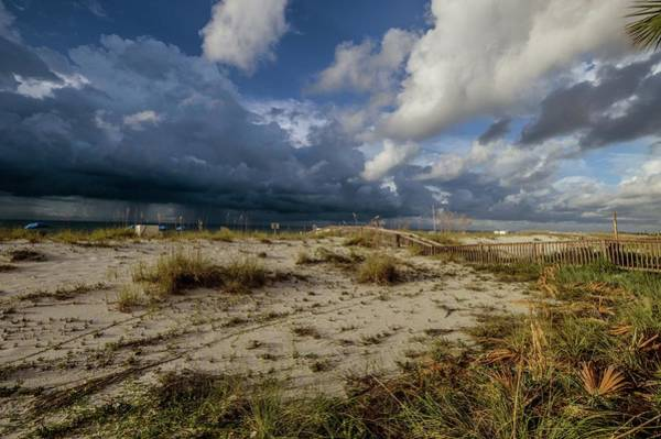 Gulf State Park Painting - Beach View Rain Clouds  by Michael Thomas