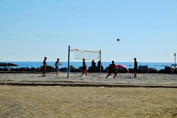 Photograph - Beach Volleyball Marseille by August Timmermans
