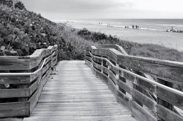 Wall Art - Photograph - Beach Walk - Black And White by Laura Fasulo