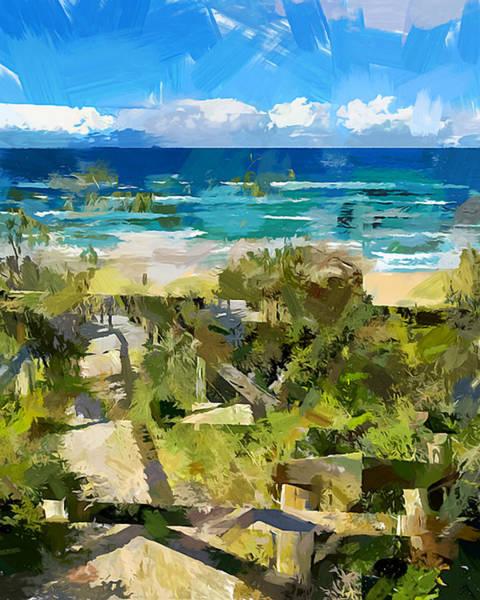 Wall Art - Painting - Beach Walk by Chris Butler