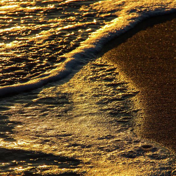 Wall Art - Photograph - Beach Waves In Afternoon Light 1 by Iordanis Pallikaras