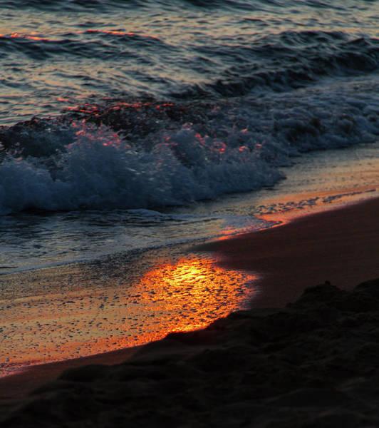 Wall Art - Photograph - Beach Waves In Afternoon Light 3 by Iordanis Pallikaras