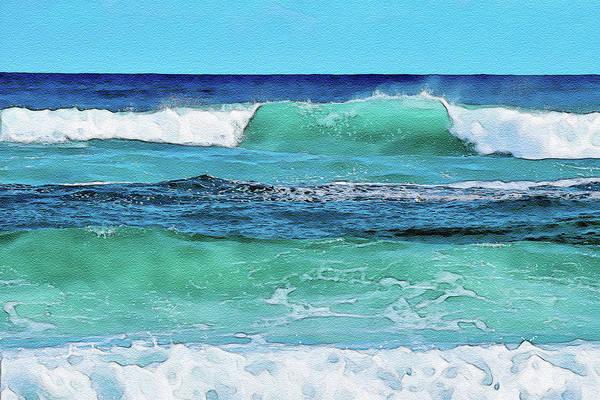 Digital Art - Beach Waves  by Keith Smith