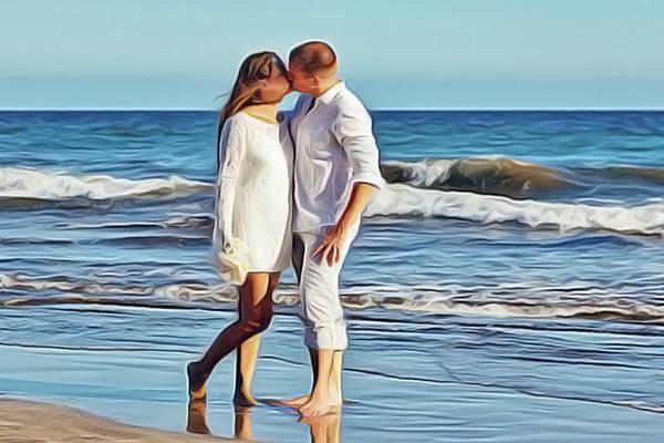 Painting - Beach Wedding by Harry Warrick
