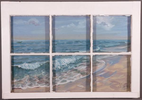 Painting - Beach Window by Gary M Long