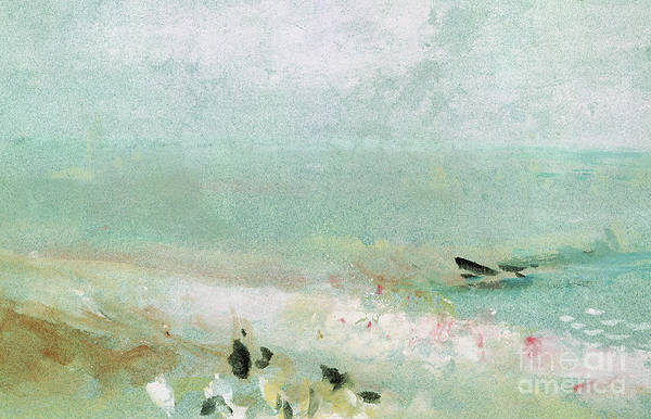 Atmospheric Painting - Beach With Figures And A Jetty by Joseph Mallord William Turner