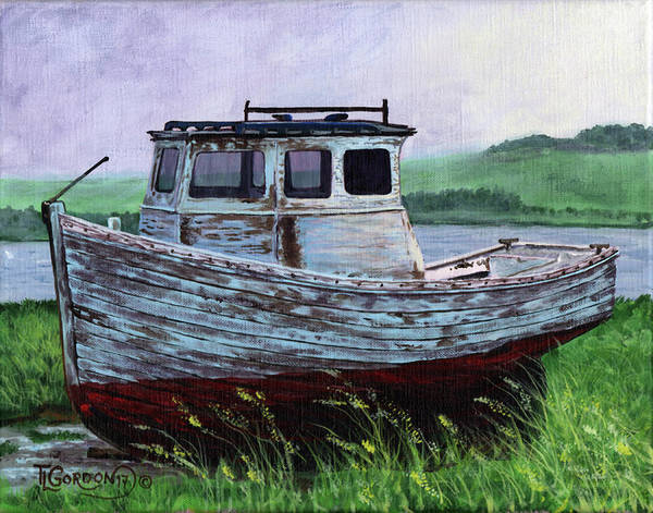 Wall Art - Painting - Beached At Bay Of Ayre by Timithy L Gordon
