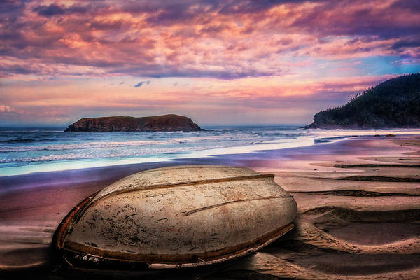 Photograph - Beached At Sunset by Debra and Dave Vanderlaan