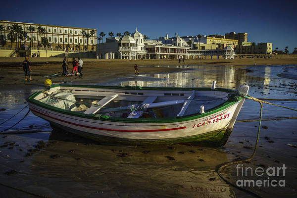 Photograph - Beached Boat Cadiz Spain by Pablo Avanzini