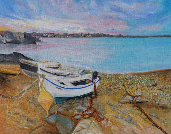 Painting - Beached Boats by Kathy Knopp