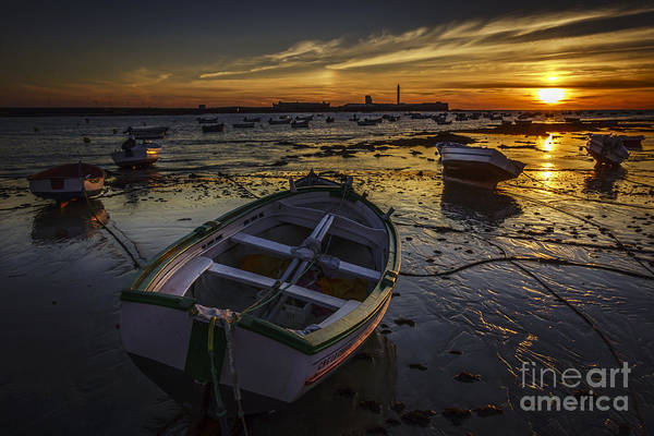 Photograph - Beached Boats On La Caleta Cadiz Spain by Pablo Avanzini