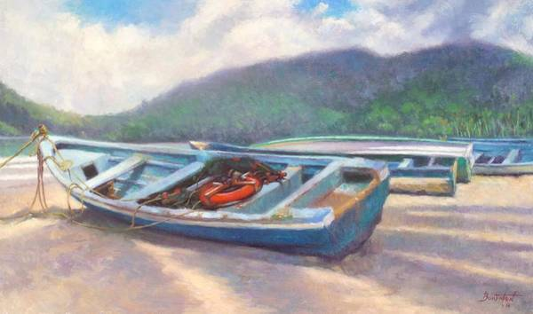 Trinidad Wall Art - Painting - Beached by Colin Bootman