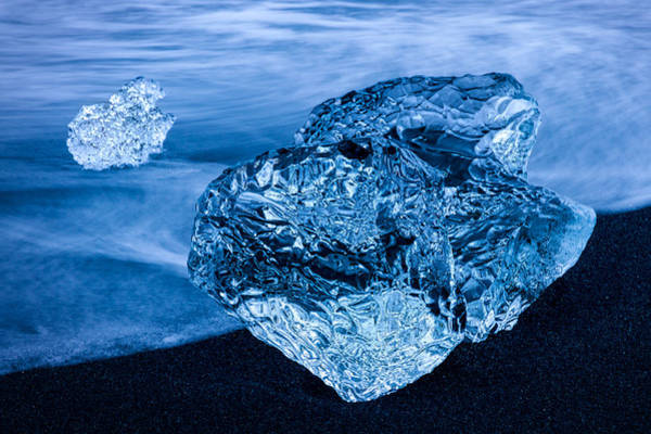 Photograph - Beached Iceberg #3 - Iceland by Stuart Litoff