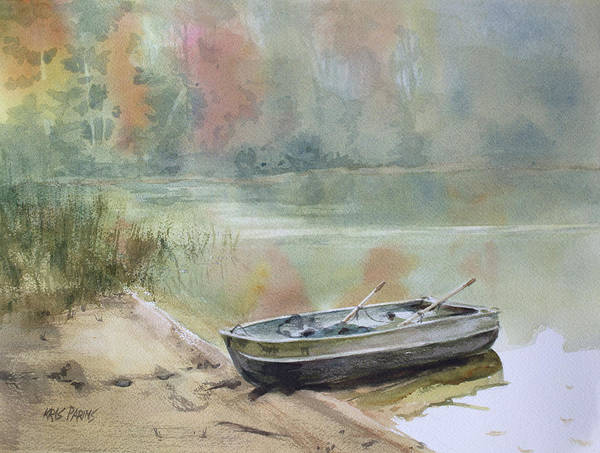 Trout Watercolor Wall Art - Painting - Beached by Kris Parins