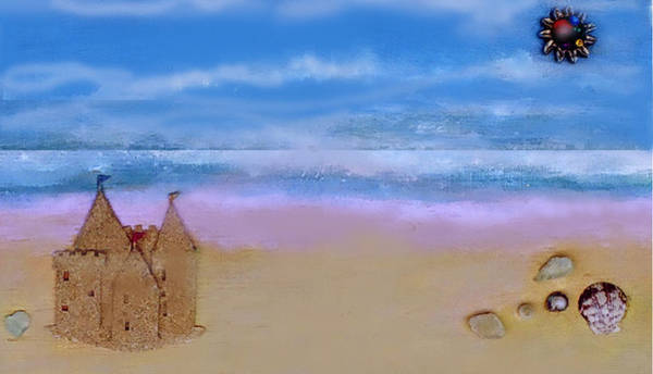 Mixed Media - Beaches Castle by Mary Ann Leitch