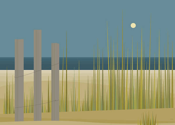 Digital Art - Beaches - Fence by Val Arie