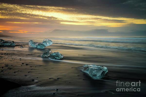Wall Art - Photograph - Beaches Of Iceland Jokulsarlon by Mike Reid