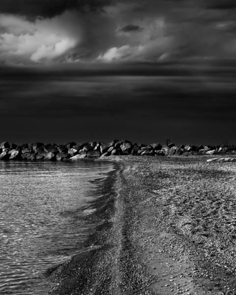 Photograph - Beaches Park Toronto Canada Breakwall No 1 by Brian Carson