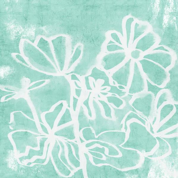 Flowers Mixed Media - Beachglass And White Flowers 2- Art By Linda Woods by Linda Woods