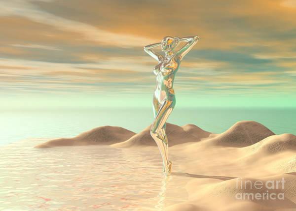 Digital Art - Beachside Beauty by Sandra Bauser Digital Art