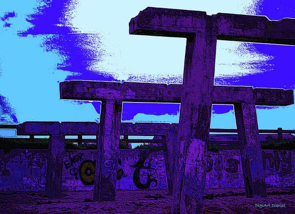 Lifeguard Digital Art - Beachside Sculpture by DigiArt Diaries by Vicky B Fuller