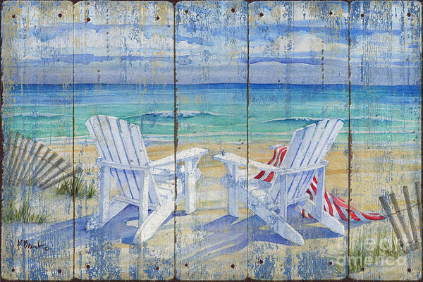 Adirondack Chair Wall Art - Painting - Beachview Distressed by Paul Brent