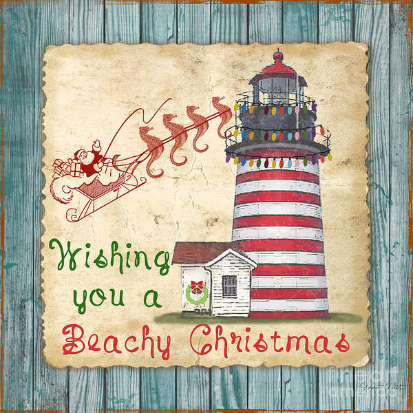 Beachy Painting - Beachy Christmas-jp3167 by Jean Plout
