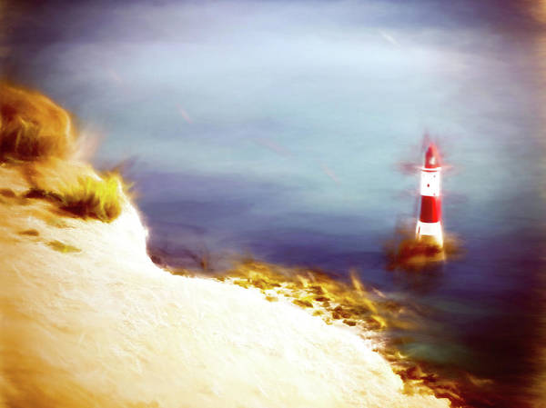 Wall Art - Mixed Media - Beachy Head Lighthouse 2 by Sharon Lisa Clarke