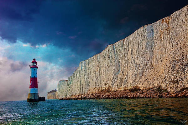 Photograph - Beachy Head Lighthouse And Cliffs by Chris Lord