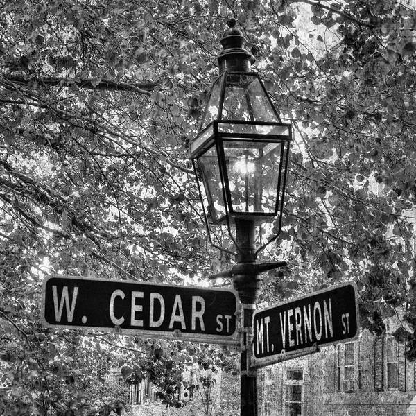 Photograph - Beacon Hill Lamppost In Black And White by Joann Vitali