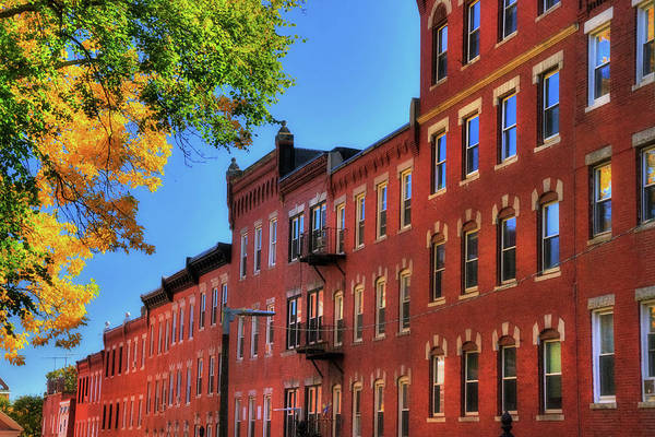 Photograph - Beacon Hill Red Brick Architecture - Boston by Joann Vitali
