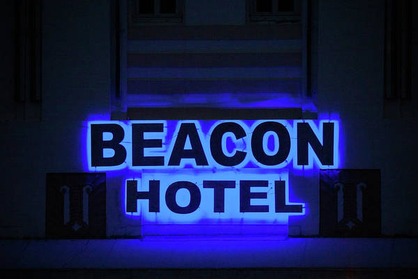Wall Art - Photograph - Beacon Hotel Neon by Art Block Collections