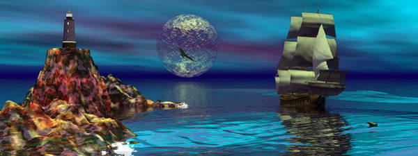 Scifi Digital Art - Beacon Of Hope by Claude McCoy