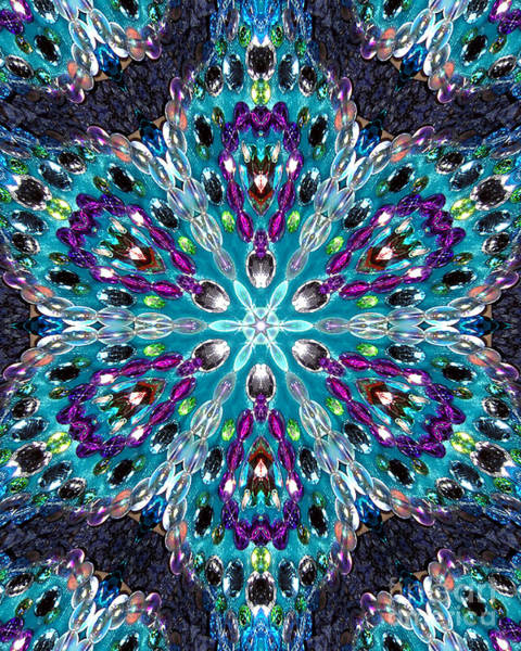 Judaica Digital Art - Bead Mosaic Digital Kaleidoscope 3 by Sofia Metal Queen