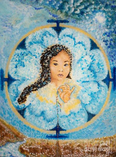 Painting - Flying Lamb Productions.        Beads Of Life by Sigrid Tune