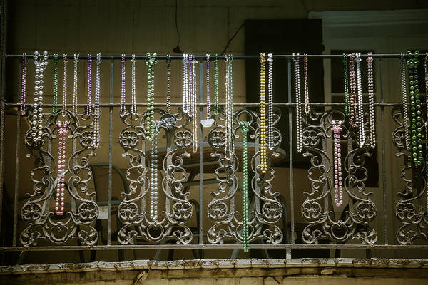 Work Of Art Photograph - Beads On Wrought Iron Rail by Garry Gay