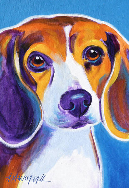 Wall Art - Painting - Beagle - Badger by Alicia VanNoy Call