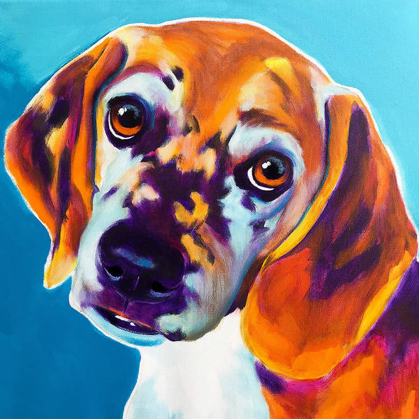 Wall Art - Painting - Beagle - Bj by Alicia VanNoy Call