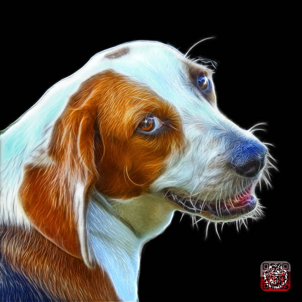 Painting - Beagle Dog Art- 6896 - Bb by James Ahn