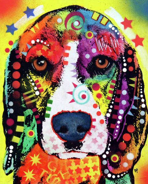 Painting - Beagle Face by Dean Russo Art