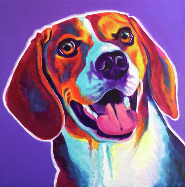 Wall Art - Painting - Beagle - Luca by Alicia VanNoy Call